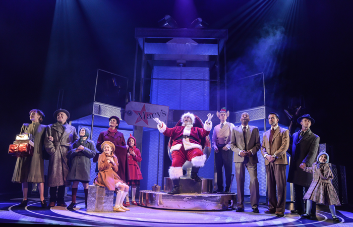 The cast of Miracle on 34th Street, Liverpool Playhouse. Photo: Robert Day