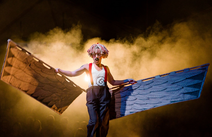 Katy Owen in Ubu! at Shoreditch Town Hall. Photo: Steve Tanner