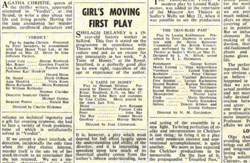 First Taste of Honey – How The Stage reviewed the premiere of Shelagh Delaney's classic in 1958