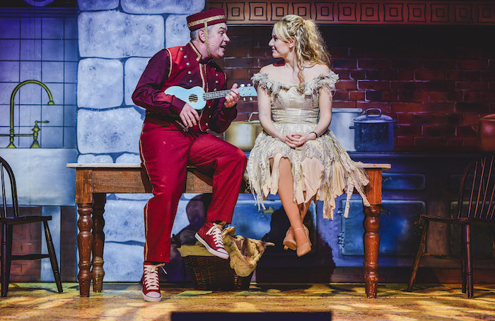 Keiron Self and  Laura Meaton in Cinderella at the Riverfront, Newport. Photo: Kirsten McTernan