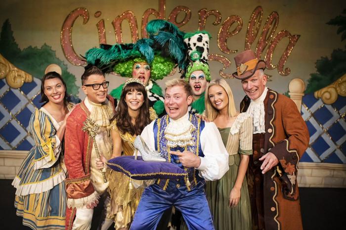 The cast of Cinderella at Lichfield Garrick