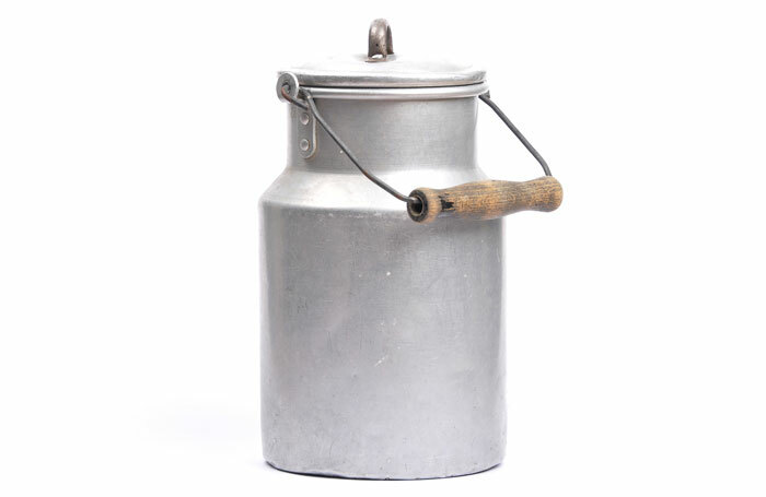 """Milk churn similar to that into which the ashes of Rayner's parents were """"decanted"""". Photo: Shutterstock"""
