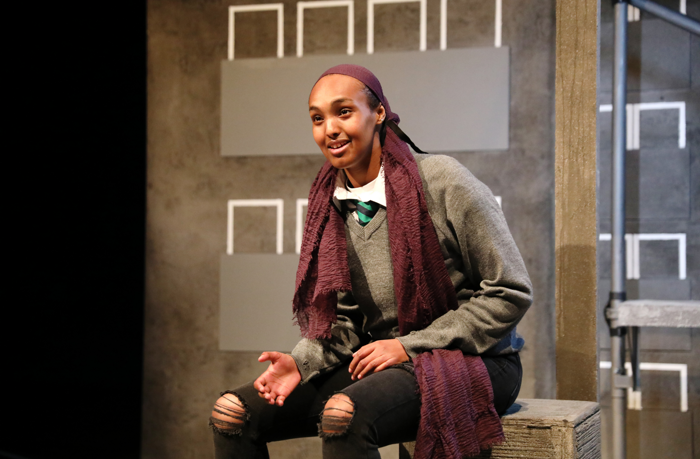 Asha Hassan in Cuttin' It at Royal Exchange Theatre, Manchester. Photo: Anneka Morley