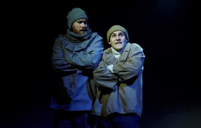Richard Ede and Elliott Ross in Shackleton and his Stowaway at Park Theatre, London. Photo: Elena Molina
