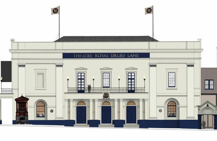 Exterior of the Theatre Royal Drury Lane