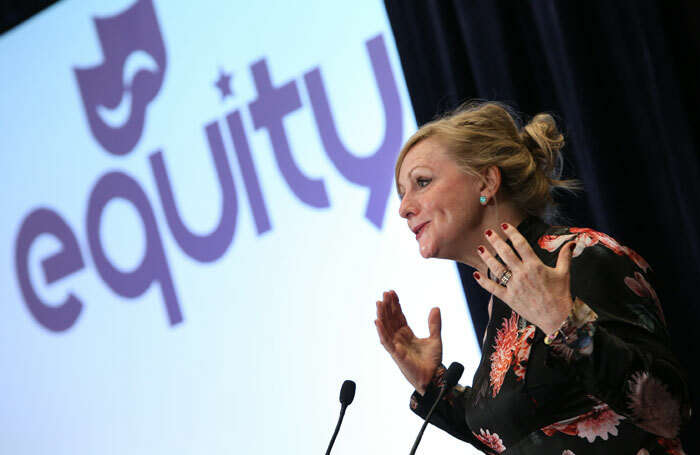 Tracy Brabin speaking at the Equity ARC in 2018. Photo: Phil Adams