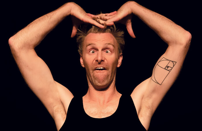 Trygve Wakenshaw in Only Bones v1.4 at London's Soho Theatre, part of London International Mime Festival. Photo: Myriam Frenette