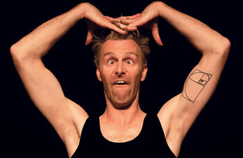 Physical comedian Trygve Wakenshaw: 'I was formed by shows like Mr Bean and Fawlty Towers... anyone with an elastic face'