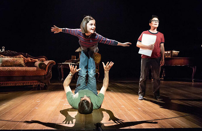 The cast of Fun Home at the Young Vic, London. Photo: Marc Brenner