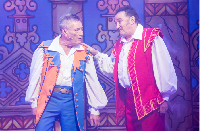 Billy Pearce and Paul Chuckle in Snow White. Photo: Nigel Hillier