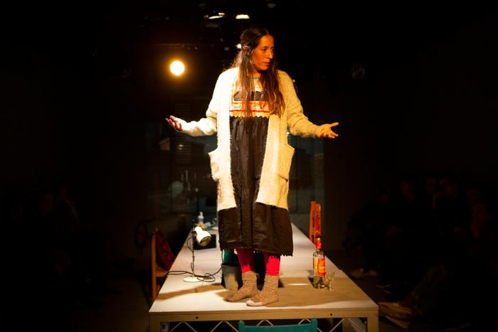 Jimena Larraguivel in Faces in the Crowd at the Gate Theatre, London. Photo: Ellie Kurttz