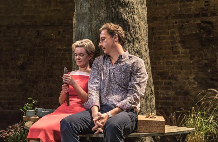 Victoria Hamilton and Nicholas Rowe in Albion at the Almeida Theatre, London in 2017. Photo: Marc Brenner