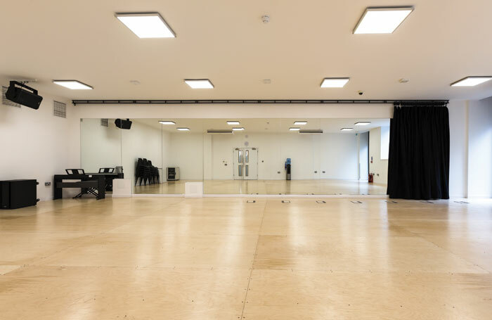 Rehearsal space in Glasshill Studios. Photo: Derek Johnston