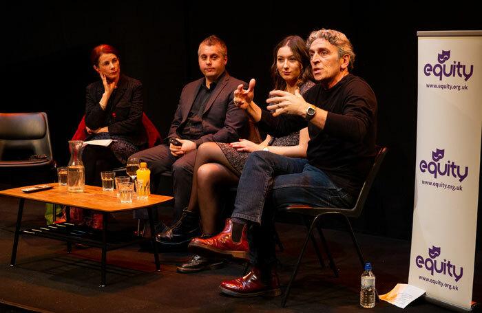 Suzanna King, Isaac Blake, Alessandra Davison and Richard O'Neill at Equity's Traveller panel at the Young Vic. Photo: Phil Adams