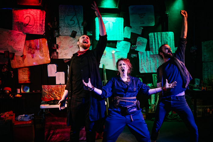 6Foot Stories' Hamlet: Rotten States at Hope Theatre, London. Photo: Matthew Koltenborn