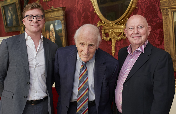 Councillor Jonathan Pryor from Leeds City Council, Dr Keith Howard, and Opera North's general director Richard Mantle attending the company's 2019/20 season launch at Harewood House. Photo: Justin Slee