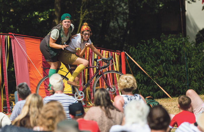 The HandleBards' production of Romeo and Juliet at the IF: Milton Keynes International Festival in 2018. Photo: Shaun Armstrong