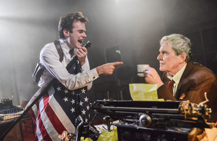 Jack Flammiger and Roger Alborough in Cops at Southwark Playhouse. Photo: Robert Day