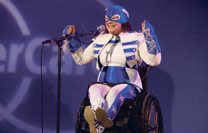 Jess Thom performs as Touretteshero at the Southbank Centre in 2014. Touretteshero CIC is one of the organisations to receive ACE funding. Photo: Rachel Cherry