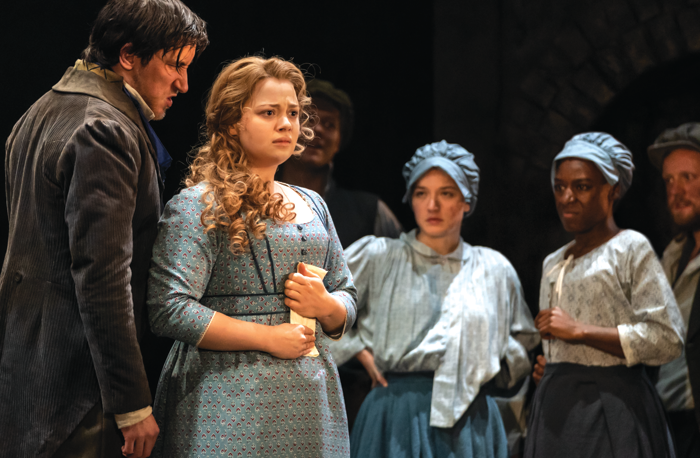 Carrie Hope Fletcher and Company in Les Miserables. Photo: Johan Persson