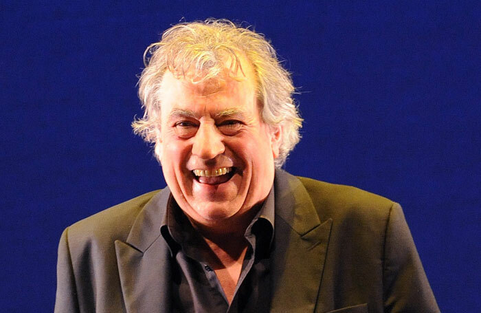 Terry Jones on stage after the dress rehearsal of The Doctor's Tale, at the Linbury Studio, Royal Opera House, in 2011. Photo: Tristram Kenton