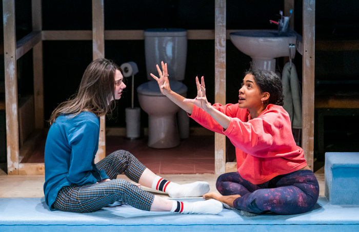 Tanya Reynolds and Rebekah Murrell in Scenes With Girls at the Royal Court, London. Photo: Tristram Kenton