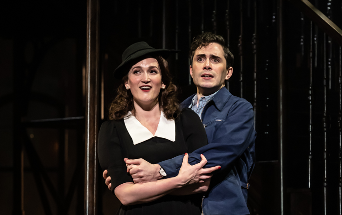 Gillene Butterfield and Alex Banfield in Street Scene at Grand Theatre Leeds. Photo: Clive Barda