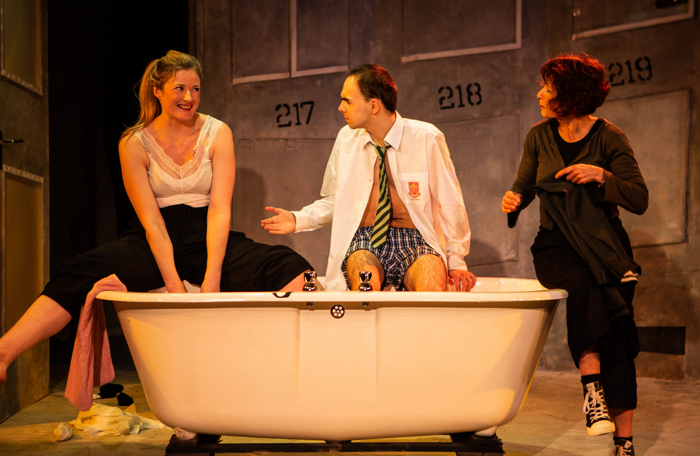 Erin Siobhan Hutching, William Grint and Jean St Clair in The Process. Photo: Paul Biver