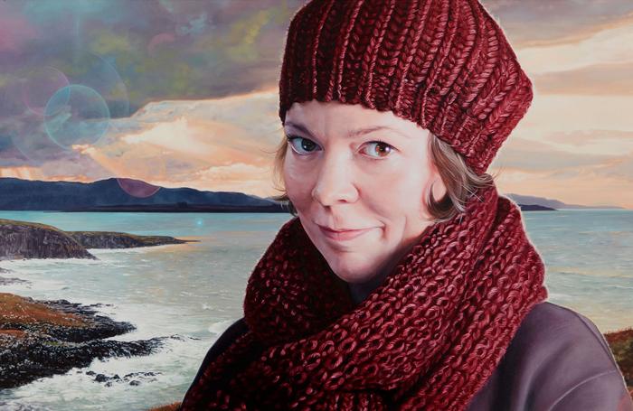 Olivia Colman in Breaking the Waves, painted by Joe Simpson
