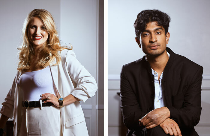Lauren O'Leary and Atri Banerjee are to host The Stage Awards 2020. Photos: Alex Brenner