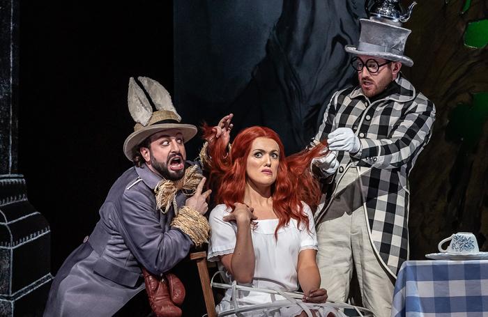 Peter Tantsits, Claudia Boyle and Sam Furness. Photo: Royal Opera House