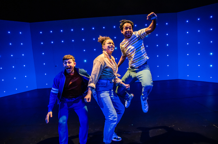 James Russell-Morley, Emily Burnett and Akshay Sharan in The Bee in Me at Unicorn Theatre. Photo: Tristram Kenton