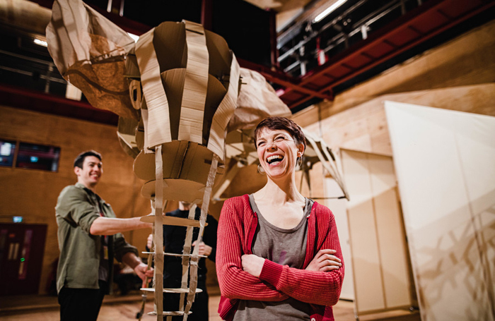 Sarah Tipple in a workshop for The Magician's Elephant. Photo: Sam Allard/RSC