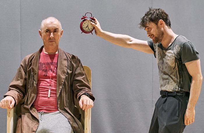 Alan Cumming and Daniel Radcliffe in Endgame at the Old Vic. Photo: Manuel Harlan