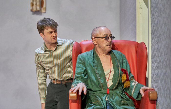 Daniel Radcliffe and Alan Cumming in Endgame at the Old Vic. Photo: Manuel Harlan