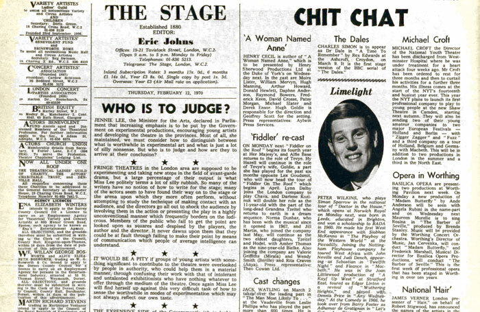 The Stage, February 12, 1970