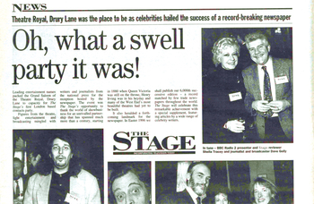 The success of the first The Stage Awards – 24 years ago (February 15, 1996)