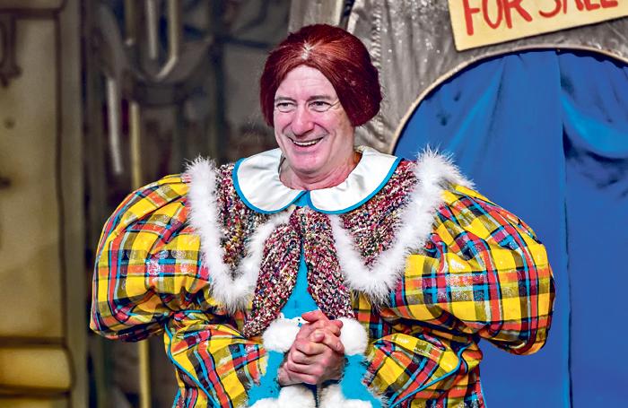 Berwick Kaler in Cinderella at York Theatre Royal. Photo: Anthony Robling