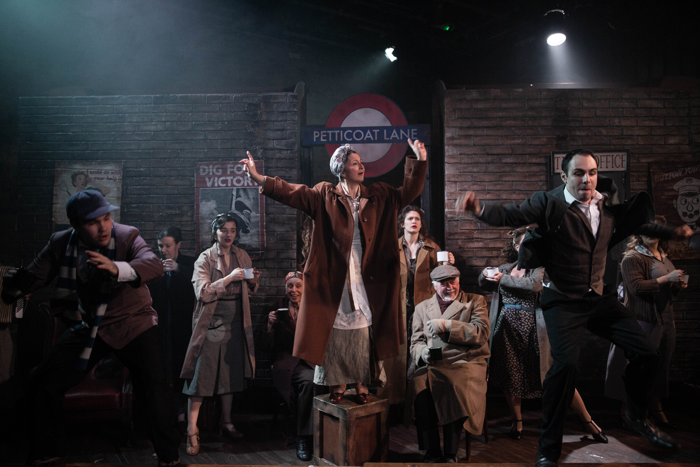 The cast of Blitz! at the Union Theatre, London. Photo: Mark Senior