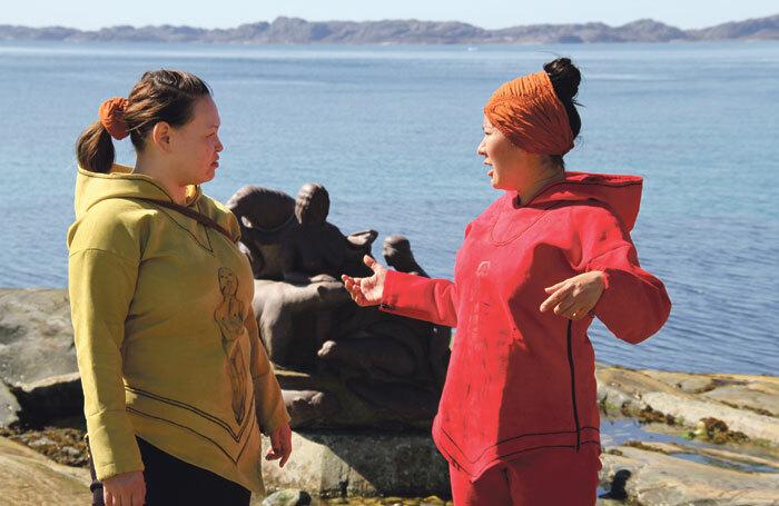 Aviaaja Petsersen and Najattaajaraq Joelsen in Greenland Trails and Tales of Nuuk. Photo: Gerth Lyberth