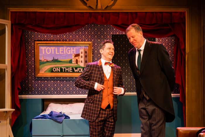 Matthew Cavendish and Andrew Ashford in Jeeves and Wooster in Perfect Nonsense at the Theatre, Chipping Norton.