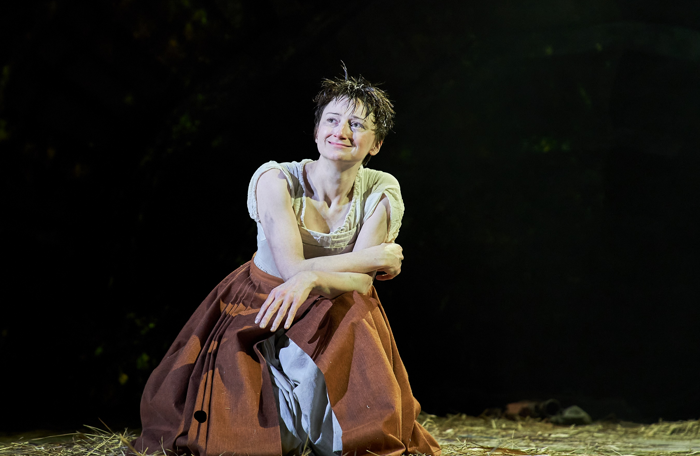 Jodie McNee in Faustus: That Damned Woman at Lyric Hammersmith, London. Photo: Manuel Harlan