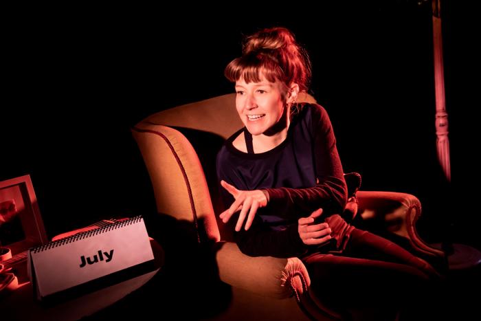 Katie Arnstein in Sticky Door at Vault Festival. Photo: Lidia Crisafulli