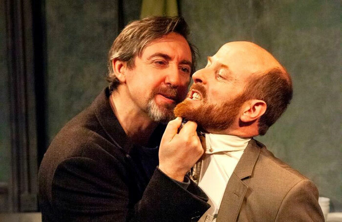 Johnny Vivash and Kevin Murphy in On McQuillan's Hill at the Finborough Theatre, London. Photo: Bronwen Sharp