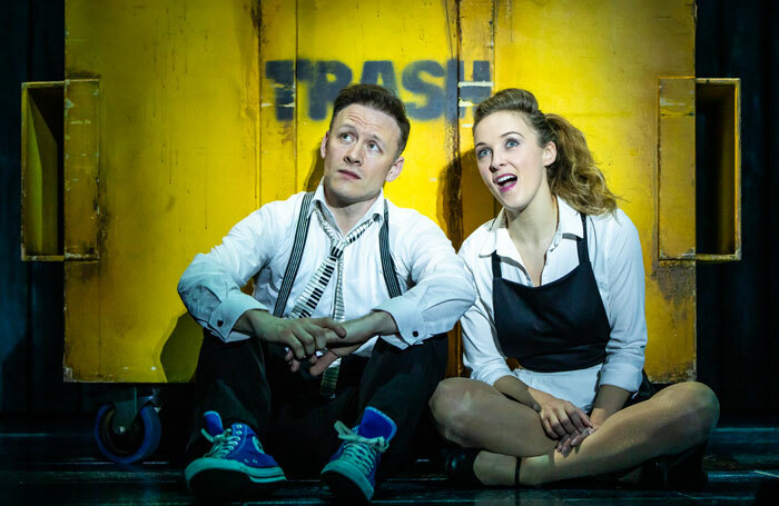Kevin Clifton and Rhiannon Chesterman in The Wedding Singer at Troubadour Wembley Park Theatre, London. Photo: The Other Richard