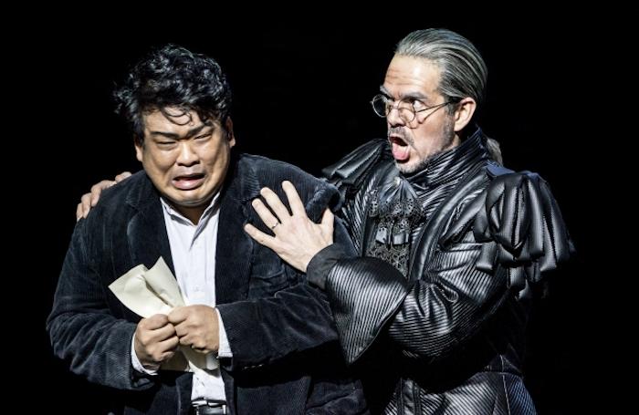 Jung Soo Yun as Henri and Giorgio Caoduro as Guy de Montfort. Photo credit: Johan Person
