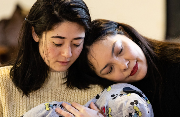 Jane Monari (Suzuki), Mariam Tamari (Cio Cio san) in rehearsals for OperUpClose's Madam Butterfly