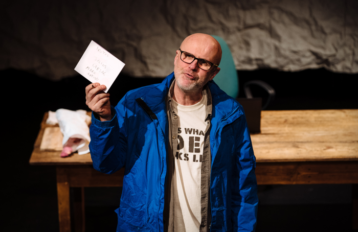 Tim Crouch in I, Cinna (The Poet) at Unicorn Theatre, London. Photo: Helen Murray