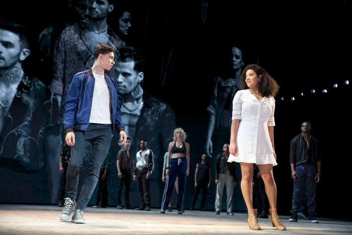 Isaac Powell and Shereen Pimentel in West Side Story at Broadway Theatre, New York. Photo: Julieta Cervantes