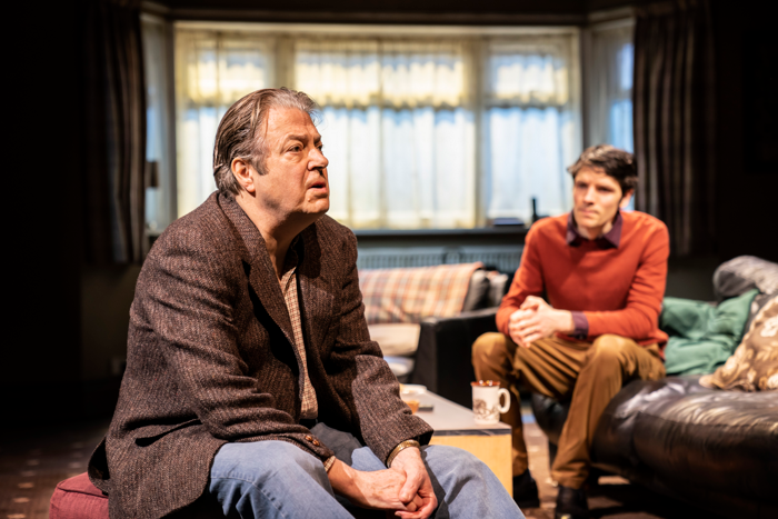 Roger Allam and Colin Morgan in A Number at the Bridge Theatre. Photo: Johan Persson